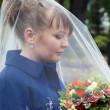Bride with bouquet — Stok Fotoğraf #33232097