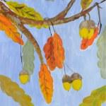 Twig oak — Stock Vector #33908943