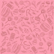 Sweets on pink — Stock Vector