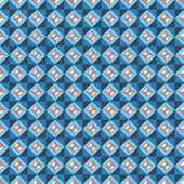 Repeating pattern orange-blue — Stock Vector