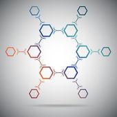 Twelve connected cells. Gradient — Stock Vector