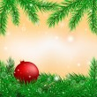 Bright christmas background — Stock Vector