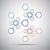 калейдоскоп соединений. градиент — Cтоковый вектор