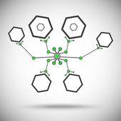 Nanobot grå-grön — Stockvektor