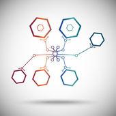 Nanobot gradient — Stock Vector