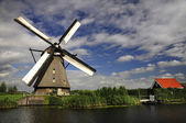 The windmills of Kinderdijk — Stock Photo