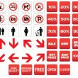 Pictogram prohibited sale discounts — Image vectorielle