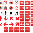 Pictogram prohibited sale discounts — Imagen vectorial