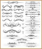 Calligraphic decorative elements — Stock Vector
