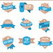 Top pr marketing labels (set 10) — Stock Vector
