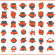 Orange stickers (set 1) - Stock Vector