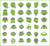 Green stickers (set 4) — Stock Vector