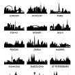 Top city silhouette vector — Stock Photo #25685359