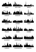 Top city silhouette vector — Stock Photo