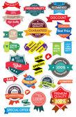 Set marketing labels — Stock Vector