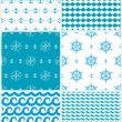 Sea seamless pattern — Stock Vector
