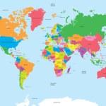 Political map of the world vector — Stock Vector #50372733
