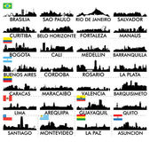 City skyline South America — Stock Vector