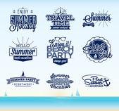 Retro summer typography design — Stock Vector