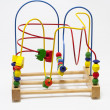 Stock Photo: Big wooden bead maze