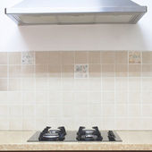 Gas Hob modern kitchen — Stock Photo
