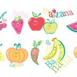 Stock Photo: Frutitas comics fruits