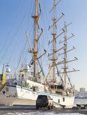 Sailing vessel at the mooring — Stock Photo