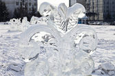Ice sculpture — Stock Photo
