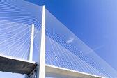 Big suspension bridge — Stock Photo