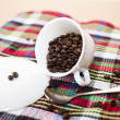 Coffee grains on a table — Stock Photo