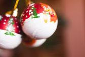 New Year's spheres — Stock fotografie