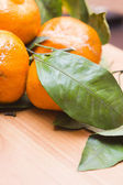 Tangerines on a table — Stockfoto
