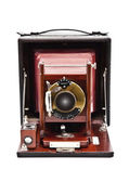 Vintage plate camera on white background — Stock Photo