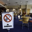 Use of cellphones banned in clubhouse — Stock Photo