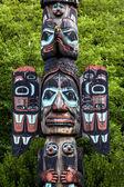 Carved totem pole in Ketchikan, Alaska — Stock Photo