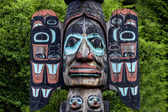 Carved totem pole in Ketchikan, Alaska — Stock Photo