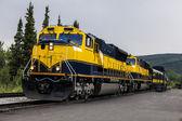 Diesel double-header locomotives in Alaska — Stock Photo