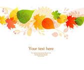 Vector illustration of Autumn leafs back — Stock Vector