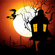 Halloween dark back, vector illustration — Stock Vector #13258283