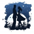 Royalty-Free Stock Vector Image: Lovers in night