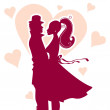 Vector illustration of Love couple - Stock vektor