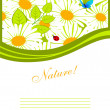 Vector illustration of floral back - Stock Vector