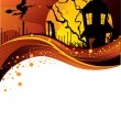 Vector illustration of Halloween back - Image vectorielle