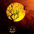 Halloween dark back, vector illustration — Stock Vector #13258289