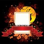 Halloween dark back, vector illustration — Stock Vector #13258317