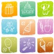 Royalty-Free Stock Vector Image: Happy birthday pattern