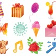 Happy birthday pattern — Stock Vector