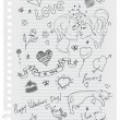 Royalty-Free Stock Vector Image: Hand-drawn love doodles