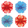 Royalty-Free Stock Imagen vectorial: Vector illustration of bows with ribbons
