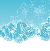 Vektorové ilustrace květinové zpět — Stock vektor